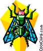 Vector Clipart image  of a stylized fly