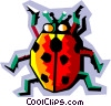 Vector Clipart graphic  of a stylized ladybug