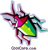 stylized bug Vector Clipart illustration