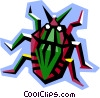 stylized beetle Vector Clipart picture
