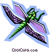 Vector Clipart illustration  of a stylized dragonfly