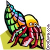 Vector Clip Art picture  of a stylized crab