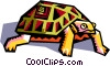 stylized tortoise Vector Clipart picture