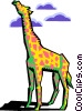 Vector Clipart illustration  of a stylized giraffe