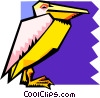 Vector Clip Art graphic  of a stylized pelican
