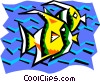 Vector Clip Art image  of a stylized fish