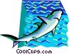 stylized shark Vector Clip Art picture