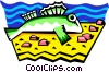 Vector Clip Art graphic  of a stylized fish