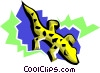 Vector Clip Art image  of a stylized lizard