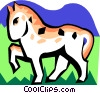 stylized horse Vector Clip Art picture