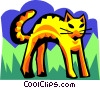 stylized cat Vector Clipart graphic