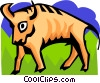 Vector Clipart graphic  of a stylized bull