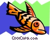 stylized fish Vector Clipart graphic