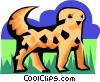 Vector Clipart picture  of a stylized dog