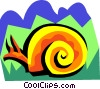 Vector Clip Art graphic  of a stylized snail