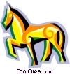 Vector Clipart picture  of a stylized horse
