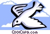 stylized dove Vector Clipart illustration