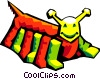 Vector Clipart illustration  of a stylized bug
