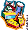 Vector Clipart graphic  of a time concept