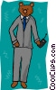 business bear market Vector Clipart picture