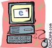 Vector Clip Art image  of a computer e-mail