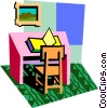 Vector Clipart picture  of a education