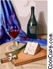 concept food and dining/wine and cheese Vector Clip Art picture
