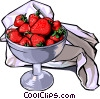 Strawberries in a bowl Vector Clip Art graphic
