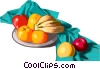 bowl of fruit Vector Clipart picture