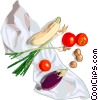 eggplant, tomatoes and squash Vector Clip Art picture