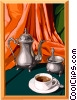 Vector Clip Art image  of a food and dining/coffee time