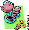 Vector Clip Art graphic  of a coffee time