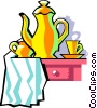 afternoon tea Vector Clipart graphic
