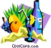tropical drinks Vector Clipart illustration