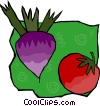 Vector Clip Art graphic  of a beets