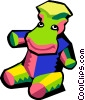 Vector Clip Art picture  of a stuffed animal