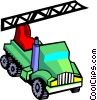 Vector Clipart illustration  of a crane truck