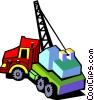 crane truck Vector Clipart illustration