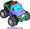 Vector Clipart image  of a big wheel vehicle