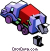 Vector Clipart graphic  of a garbage truck