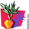 plant in vase Vector Clipart picture