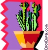 cactus with funky background Vector Clipart illustration