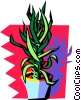 Vector Clipart graphic  of a plant with funky background