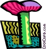 Vector Clip Art picture  of a mushroom