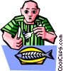 Vector Clip Art image  of a dinner time