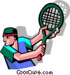Vector Clipart picture  of a tennis player