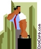 businessman talking on cellular phone Vector Clip Art graphic