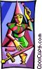 Tarot card Vector Clipart illustration