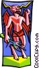 Vector Clip Art image  of a Tarot card