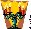 Vector Clip Art picture  of a Christmas candelabra